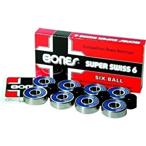Bones Super Swiss 6 Skate Bearings (Pack of 8)